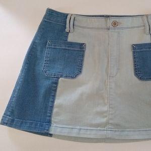 Hollister Denim Front Pockets Mini Skirt